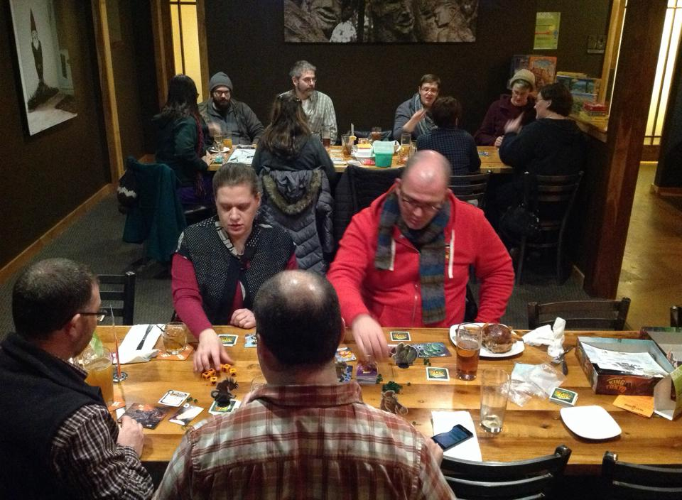 Madison board games and beer at next door brewing company